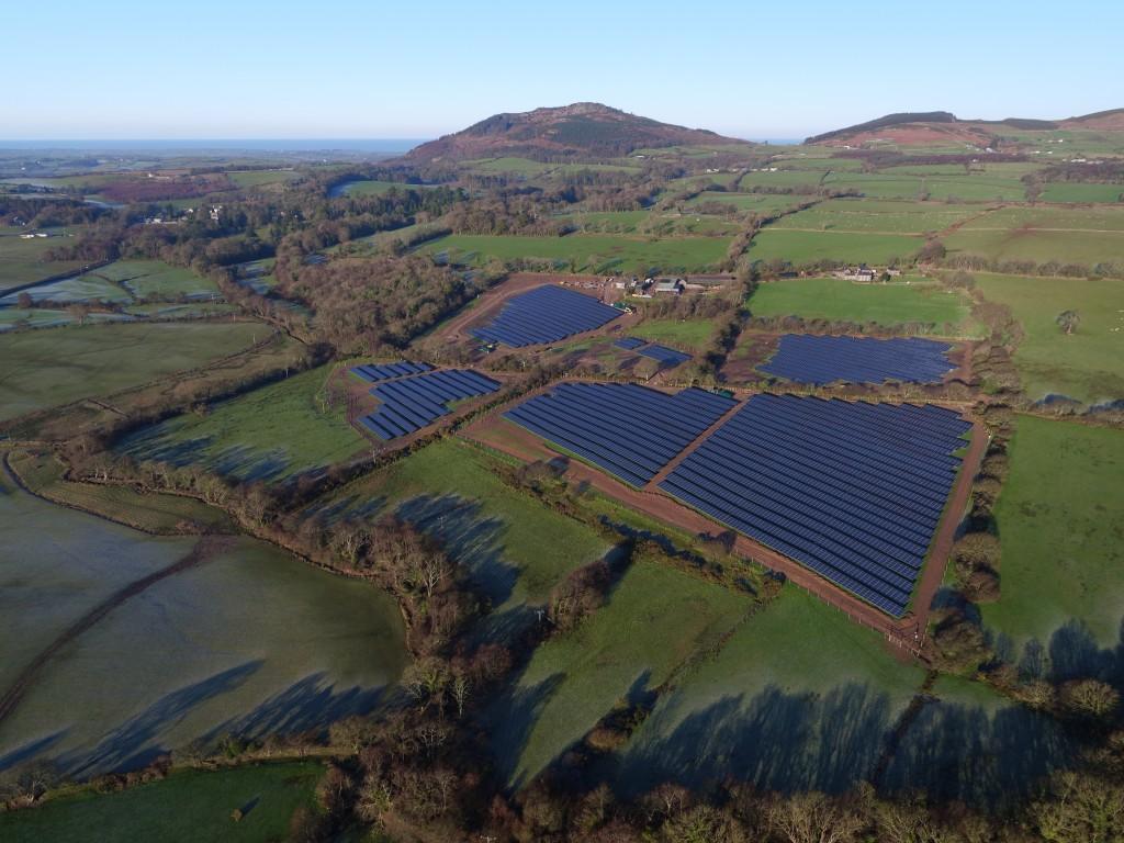 Aerial Photo Solar Farm