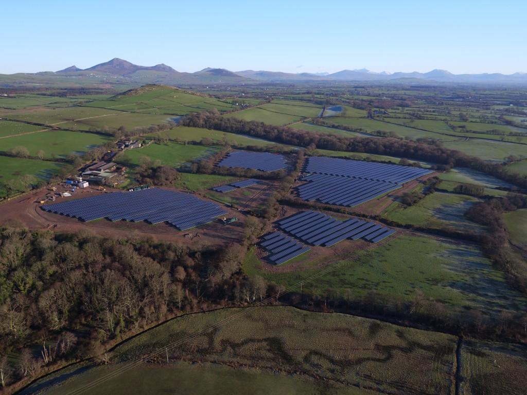 Aerial Photo Solar Farm North Wales