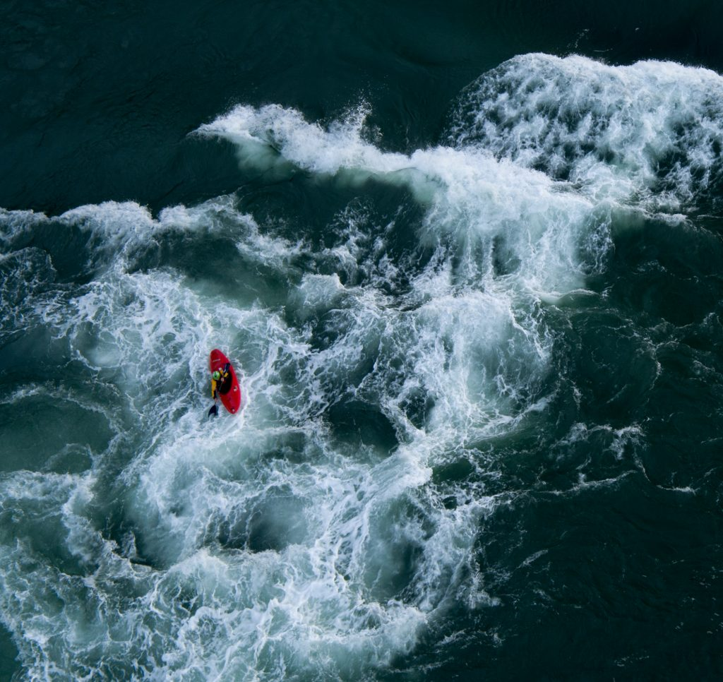 Kayak on Menai Straits